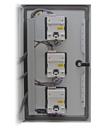 3 Way SMARTRAIL X835-MID Pre-wired MID Meter Panel for Single/Three Phase Systems inside