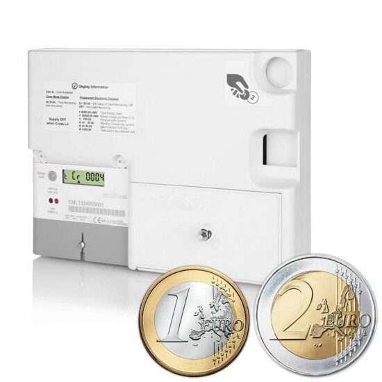 Emlite - EML-P-EURO-MID Single Phase Euro Prepayment Coin Meter (100A Direct Connect)