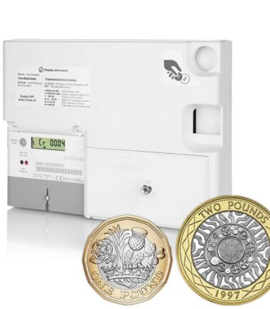 Emlite – EML-P-GBP-MID Single Phase Sterling Prepayment Coin Meter (100A Direct Connect)