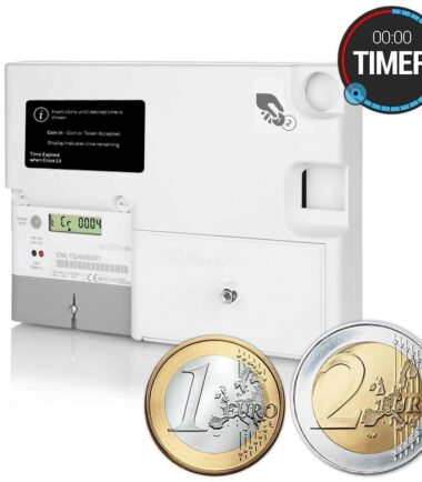 Emlite - EML-TIMER-EURO-MID Single Phase Euro Prepayment Coin Timer Meter (100A Direct Connect)