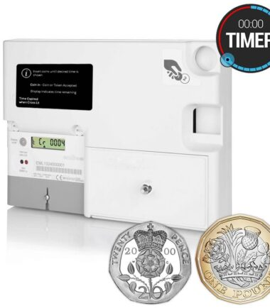 Emlite - EML-TIMER-GBP-MID Single Phase Sterling Prepayment Coin Timer Meter (100A Direct Connect)