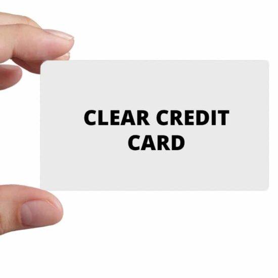 Prepayment meter clear credit card