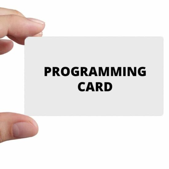 Prepayment meter programming card