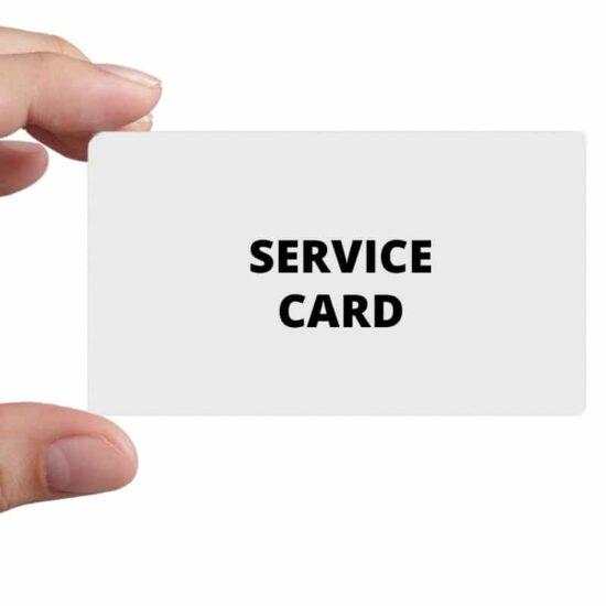 Prepayment meter service card