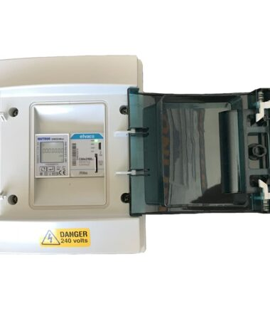 Elvaco metering gateway inside with din rail meter