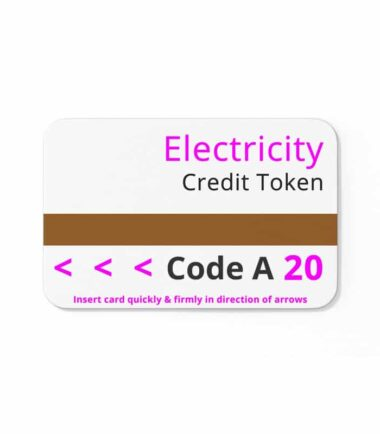 magnetic cards prepayment meter-code A 20