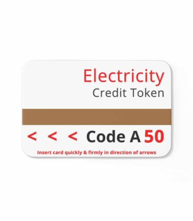 magnetic cards prepayment meter-code A 50