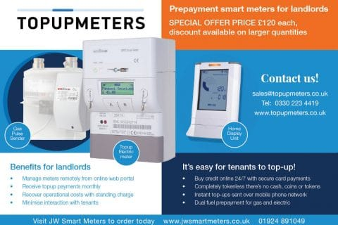Topupmeters for landlords