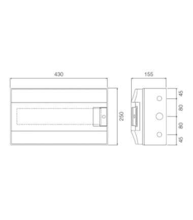 ABB Mistral 18 module din rail-meter enclosure dimensions
