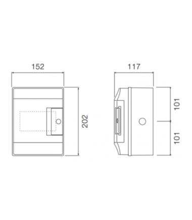 ABB Mistral 4 module din rail-meter enclosure dimensions